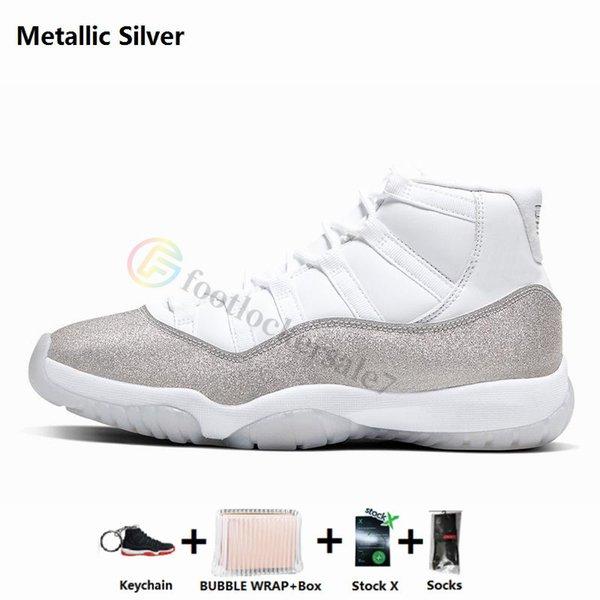 11s-Metallic Silver