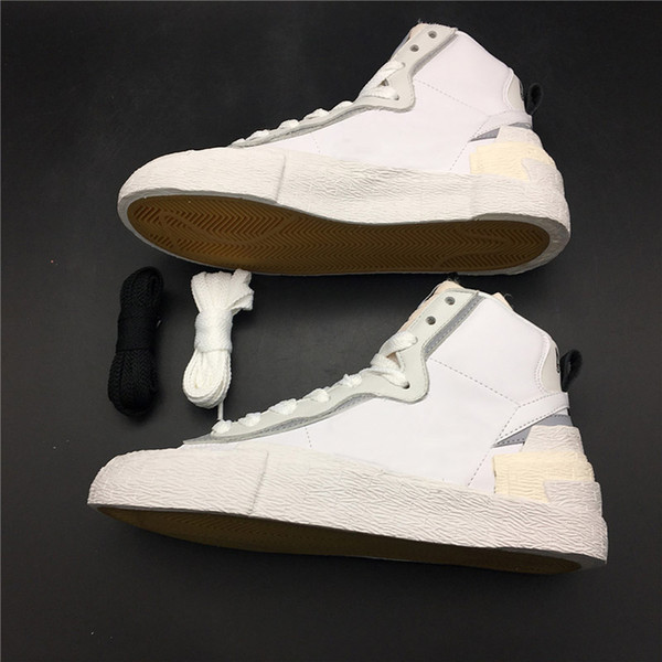 Yeni Sacai x Birleştirmek Dunk Blazer Orta Rahat Ayakkabılar Erkek Eğitmenler Toki Kayma Txt Spor Skate Avant-garde Trailblazers Sneakers Boyutu 36-44