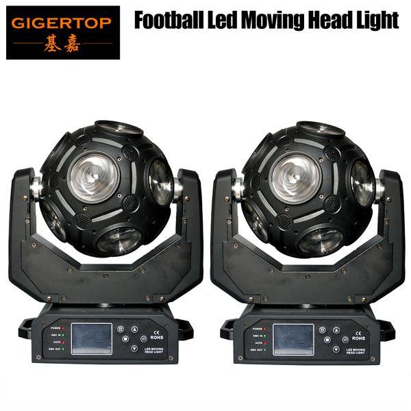 top popular Newest 2XLOT 12x20W RGBW 4in1 LED Football Moving Head Light Great Show Effect DJ Disco Nightclub Party 2021