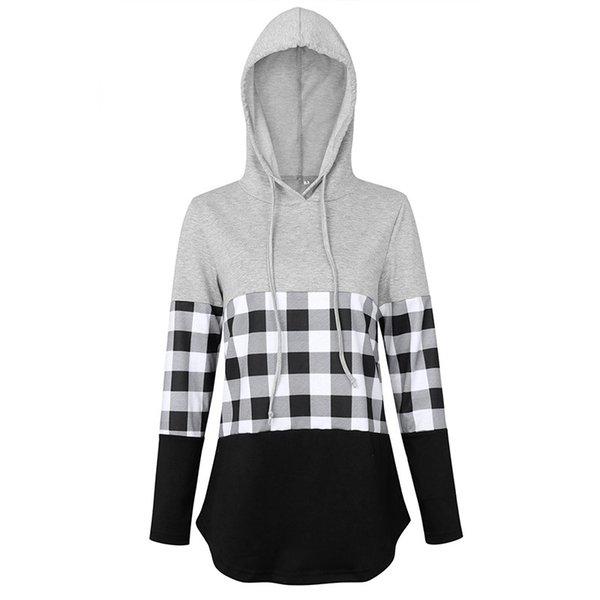 plaid hoodie A2