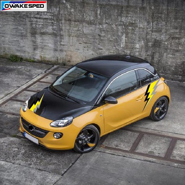 Großhandel Auto Styling Blitz Grafik Vinyl Aufkleber Für Opel Corsa Adam Auto Körper Side Hood Decor Aufkleber Autozubehör Von Liuyangcar 1831 Auf