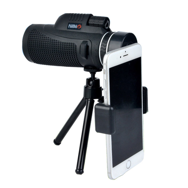 Monocular 40x60 for Mobile Phone Optical lenses Green Film Telescope Outdoor Hunting Watching Bird Spotting Scope with tripod