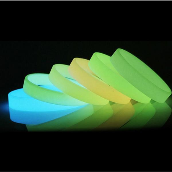 Karanlıkta Kızdırma Noctilucous Silikon Kauçuk Bileklik Bileklik