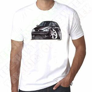 WiArriveedArtz Мультипликационный автомобиль BlArriverrive Vauxhall Corsa Mk2 Мужская 100% хлопок, белая футболка