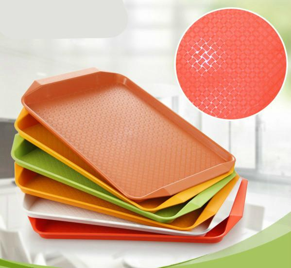 """Restaurant Hotel Plastic Serving Tray - Kitchen Refreshments Food Drink Cafe Standard Cafeteria/Fast Food Tray 12"""" X 16"""""""