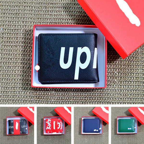 Supre Letter Designer Zipper Wallets Sup Unisex Coin Purses Mens Notecase Women Handbags Card Holder Slot Trendy Gifts Bags Boutique C9503