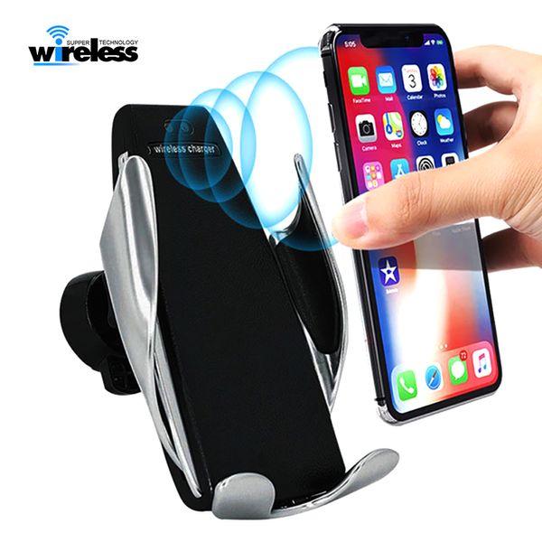 Fixation automatique sans fil chargeur de voiture Air Vent téléphone titulaire charge téléphone support de montage pour iphone Samsung Android téléphone portable