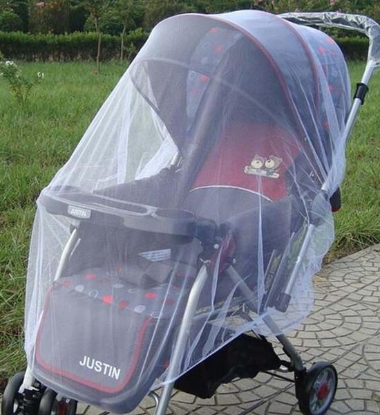 Rede Mosquiteira Moda Bebê Branco Crianças berço compensação Carrinho de bebê Carrinho de bebê Fly Midge Inseto Bug Cover Stroller Protector Protector