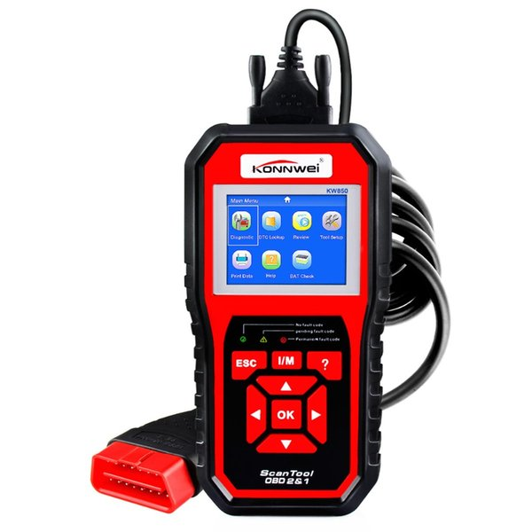 OBD2 Scanner CAN J1850 Auto Full Function Car Diagnostic Tool Clear Fault Code OBD Engine Reader 12V Battery Tester