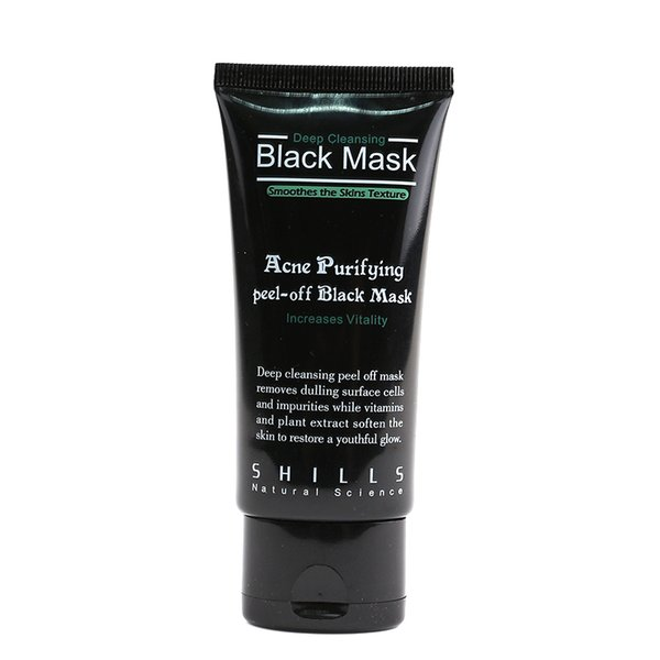 Hot Selling 50ml SHILLS Deep Cleansing purifying peel off Black mud face mask Remove blackhead facial mask Smooth Skin Shill Care