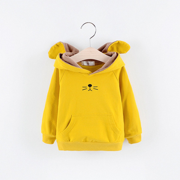 Autumn Children Baby Babi Kids Boys girls Long Sleeve cartoon cute Rabbit Ear Hat Hooded Sweatshirts Outwear Coats