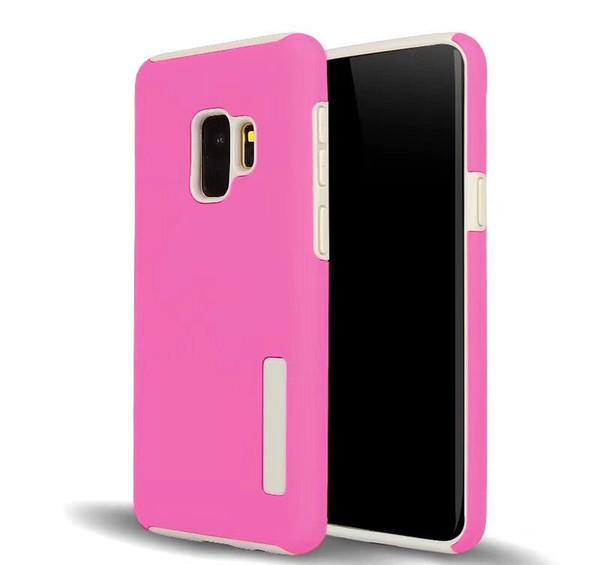 Para Samsung Galaxy J2 Pro J3 J4 más J6 prime J7 Refine J8 2018 Caso de armadura híbrida Cubierta protectora a prueba de golpes
