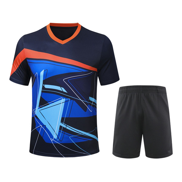 best selling 2020 new badminton clothes short sleeve men's and women's shirts + shorts sportswear ping pong clothes tennis clothes sportswear