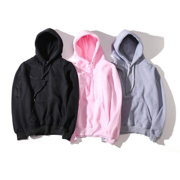 enhon897 / 2019 Mens Branded Hoodie Licht Fleece Sweatshirts Mode Gedruckt Mit Kapuze Pullover 6 Farben Street Style Herren Sportbekleidung ED22