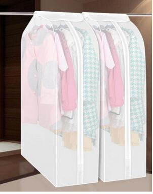 Wardrobe Storage Bag Coat Suit Organizer Thickened PEVA Washable Three-dimensional Dust-proof Clothes Cover Clothing Storage Bags