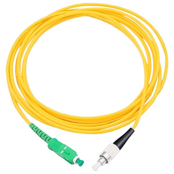 10 Pcs/bag FC UPC to SC APC Simplex 3.0mm PVC Single Mode Fiber Patch Cable jumper