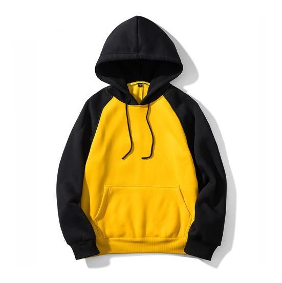 Мужские толстовки мода стиль хип-хоп негабаритных Свободные с капюшоном свитер пальто с 7 цветами EUR размер S-2XL