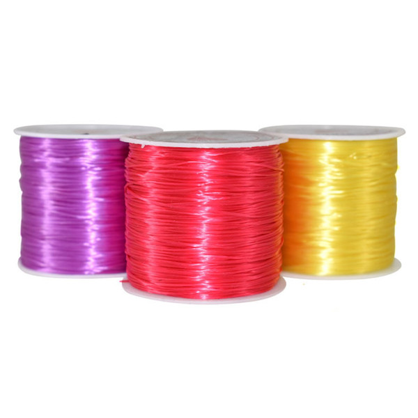 5pcs/Lot 0.5mm Crystal Thread Cord Elastic Beading String Roll For Jewelry Making DIY Bracelet Multicolor Wire Fishing Rope