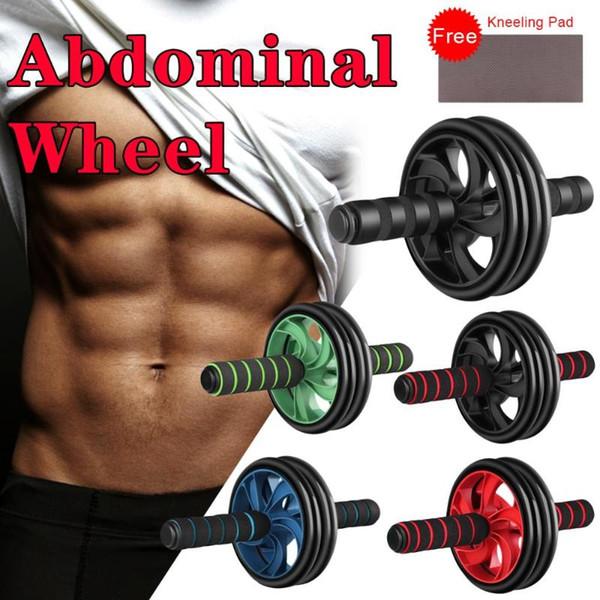 best selling 5 Colors Multifunctional Abdominal Wheel Abdomen Device Double Wheel Abdominal Muscle Mute