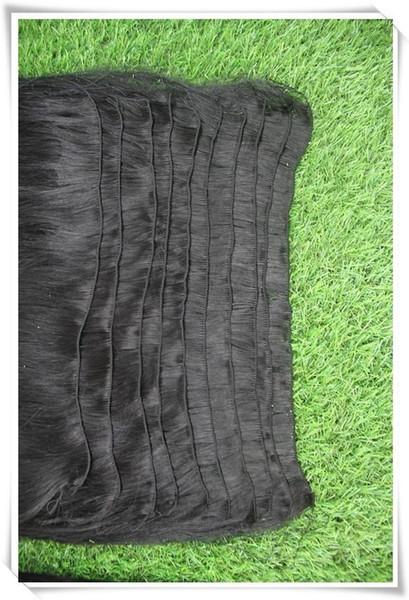 Jet Black Color 100% Straight Human Hair Weaving 10-30 Inchs Virgin Remy Hair Weave Bundles 100g Remy Brazilian Double Weft Hair Bundles