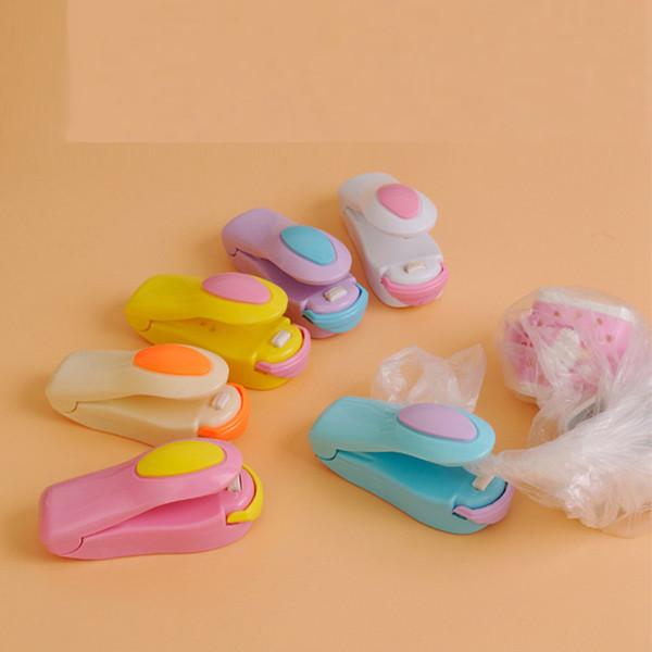 Mini termosaldatura Macchina magnetica inferiore Impulse sigillante Seal Imballaggio sacchetti plastica di vuoto alimentari Sealer giochi novità LJJA3551-4