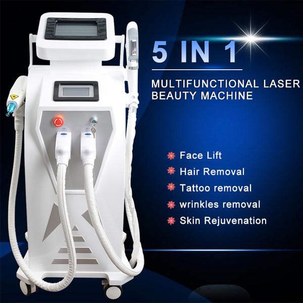 IPL SHR depilazione trattamento laser trattamento per la pelle scura nd yag laser bambola nera di ringiovanimento della pelle RF apparecchiatura