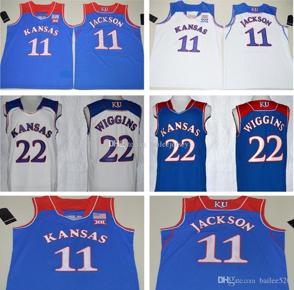 hot sale online b5b9e a5d35 2018 Mens 17 Hot #11 Josh Jackson Jersey Blue White #22 Andrew Wiggins  College Basketball Jerseys 100% Stitched From Bailee520, $15.82 | DHgate.Com