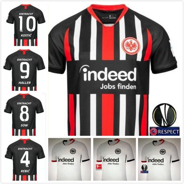 El envío gratuito 2019 2020 Eintracht Frankfurt SOW casa camiseta de fútbol de distancia 18 19 20 Frankfurt HALLER JOVIC REBIC camisetas de fútbol