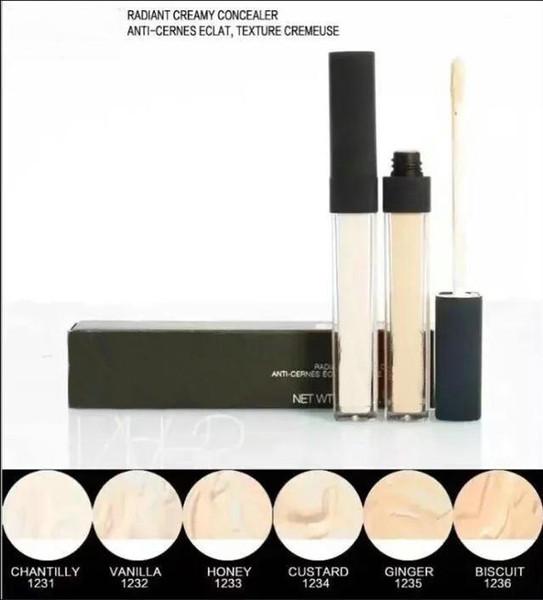 Trasporto libero NUOVO fondotinta liquido correttore cremoso di Radiant sei colori per scegliere la marca Face Makeup 1PCS
