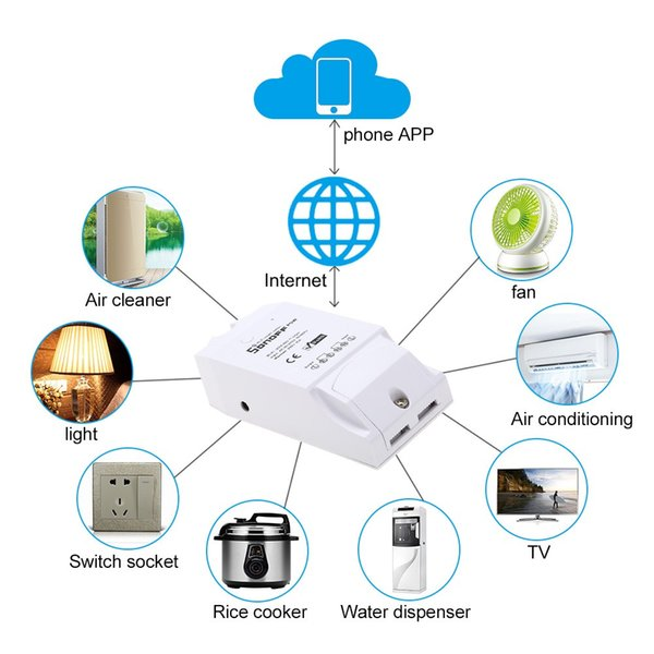 SONOFF Pow Smart Wifi Switch Wireless Remote Control 3500W Home Controller Monitoring Temperature Humidity Light Switch