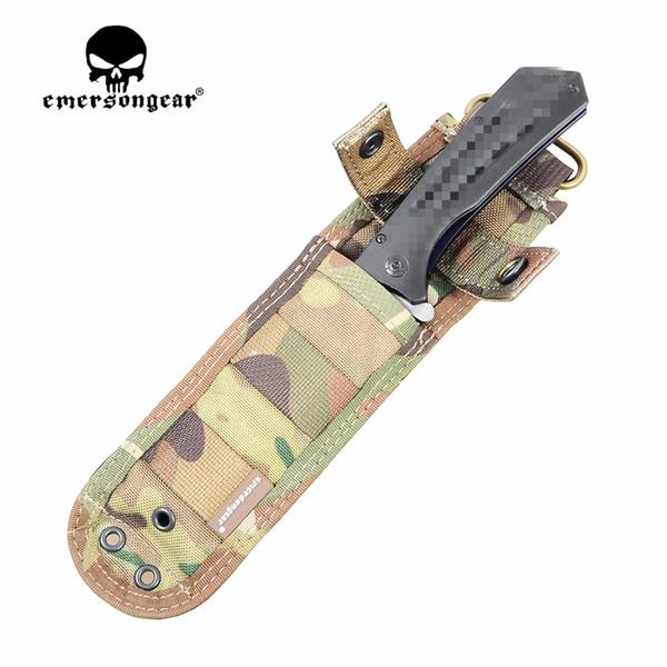 EMERSON Tactical Knife Case Militärarmee Utility Pouch MOLLE Messertasche EM8332Taktische Scheide, geschnitten! Freizeit Gym Jagd Taschen # 109409