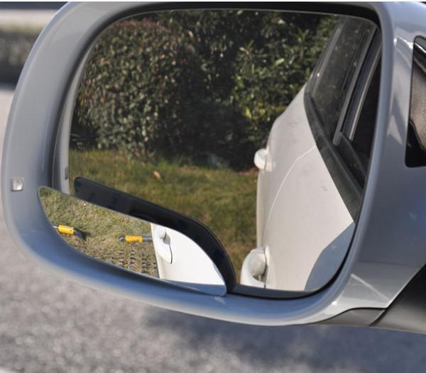 Araba Yıkama Bakım Konveks Yüksek çözünürlüklü 360-ayarlamak küçük yuvarlak kör nokta Uzun tip ters geniş açılı dikiz oto ayna acces