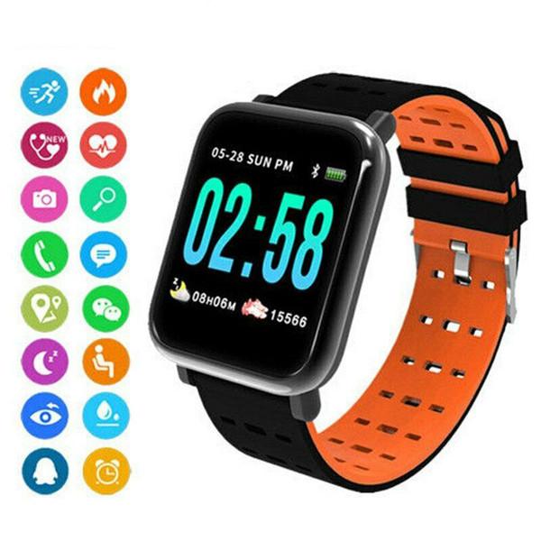 A6 Bluetooth Smart orologio cardiofrequenzimetro attività Tracker Bracciale pedometro impermeabile intelligente da polso per uomo donna bambino
