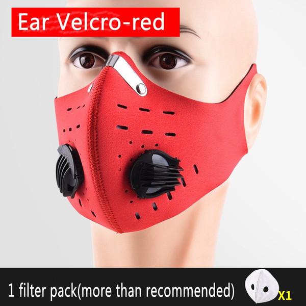Rosso con orecchio velcro