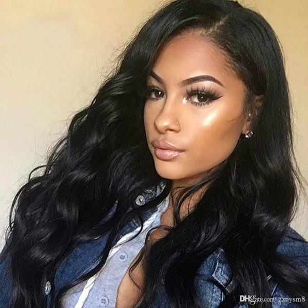Body Wave Lace Front Human Hair Wigs 13x6 Indian Remy Hair Pre Plucked Full and Thick Wigs for Black Women ujibg