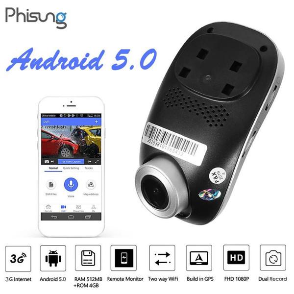 Phisung C1 3G 1080P HD dell'automobile del Android WIFI DVR Car Digital Video Recorder videocamera nascosta Dash Cam Grandangolo