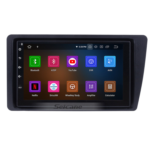 7 Inch Android 9.0 Car GPS Navigation System for 2001-2005 Honda Civic with WiFi Bluetooth USB AUX support car dvd 1080P Mirror Link OBD2