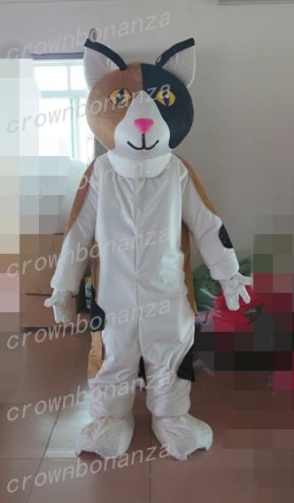 Noir Blanc Chat Costume De Mascotte Anime Thème Carnaval Halloween Bande Dessinée Wildcat Costume Animal Caractère Fête De Noël Costume