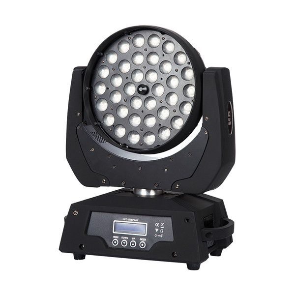 best selling Large stage moving head dyeing light, RGBW three-based mixed color, 36 lamp beads, dedicated to bars, dedicated to stage