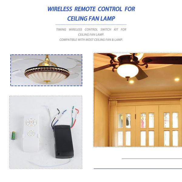 110-240 universal de la lámpara de techo Ventilador de control remoto Kit de sincronización inalámbrica interruptor de control de velocidad del viento Ajustado transmisor receptor