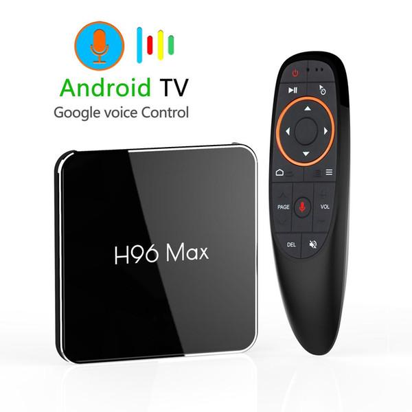 Android 9.0 4GB 64GB Amlogic S905X2 Smart TV Box Dual Wifi 1080p 4K USB3.0 H96 MAX X2 Google Voice Control