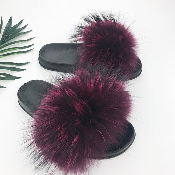 Raton laveur slippers_15 fourrure