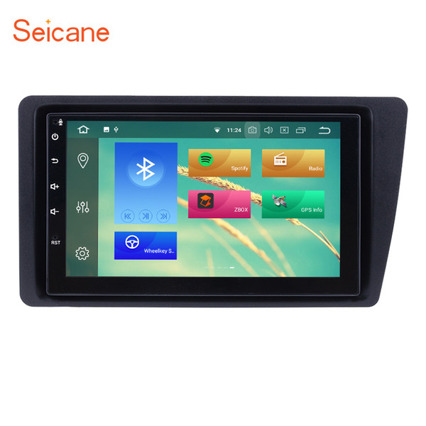 Quad-core Android 8.1 7 inch Car GPS Navigation Radio for 2001-2005 Honda Civic with WiFi Bluetooth AUX support Mirror Link OBD2 SWC Car dvd