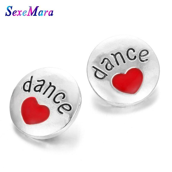 10pcs/lot New Snap Jewelry Oil Painting Love 18mm Metal Snap Buttons Fit Bracelet Bangle Button Charms Jewelry S945