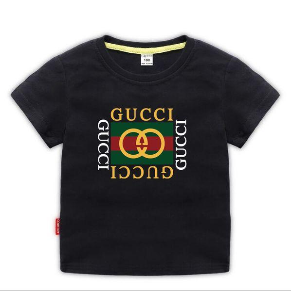 top popular 2019 New Designer Brand 2-9 Years Old Baby Boys Girls T-shirts Summer Shirt Tops Children Tees Kids shirts Clothing A01 2020