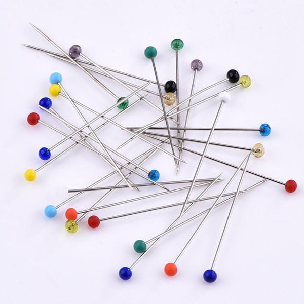 200 pcs / bolsa de colores fijos pines de costura, agujas de bricolaje envío libre al por mayor