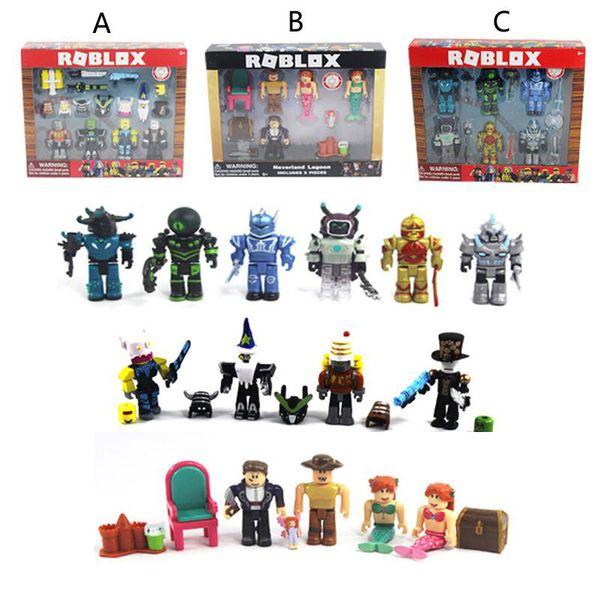 Roblox Personaggi Figura 7 / 7.5cm Gioco in PVC Figma Oyuncak Action Figuras Giocattoli Boy Backpack Bambini Regali di compleanno per feste