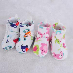 Algodão Impresso Prewalker primavera e no outono Dos Desenhos Animados sapatos de bebê Infantil Listrado Flor Decoração Sapatos Elásticos Macios Primeiro Walkers GGA1647