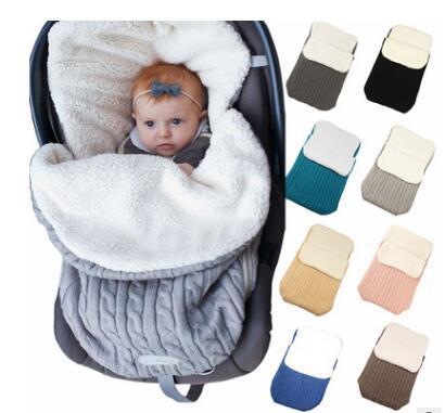 아기 캐시미어는 신생아 유모차 가방 유아 가을 겨울 랩 싸기 13 색 유아 침대 시트를 침낭 슬리핑