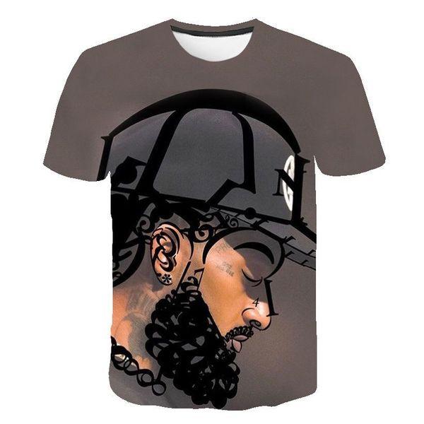 American Rapper 3D Tshirts Mens Women Summer Nipsey Hussle Casual Tees Short Sleeved Tops